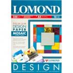 Дизайн-бумага Lomond Premium Мозайка, А4, 230г/м2, 10 листов, глянцевая, для струйной печати
