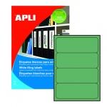 Этикетки для папок Apli, 190х61мм, 80шт, зеленый