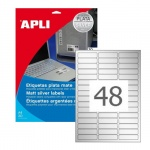 Этикетки всепогодные Apli 10066 45.7x21.2мм, 690шт, металлизированные
