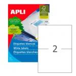 Этикетки белые Apli 01264 210х148мм, 200шт