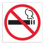Знак Курить запрещено Apli 114х114мм, самоклеящаяся пленка из полиэстера, 845