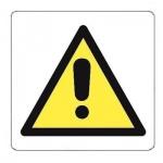 Знак Внимание Apli 114х114мм, самоклеящаяся пленка ПВХ, 10434