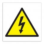 Знак Высокое напряжение Apli 114х114мм, самоклеящаяся пленка ПВХ, 10951