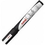 Маркер меловой Uni Chalk PWE-17K черный, 15мм, круглый наконечник, для окон и стекла
