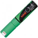 Маркер меловой Uni Chalk PWE-8K, 8мм, скошенный наконечник, для окон и стекла, флуор-зеленый