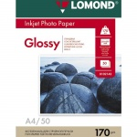 Фотобумага для струйных принтеров Lomond А4, 25 листов, 170г/м2, глянцевая, односторонняя, 102143