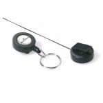 Рулетка для бейджа Durable 60 см, черный, 10 шт/уп, 8222-58
