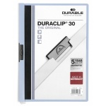 Пластиковая папка с клипом Durable Duraclip, А4, до 30 листов, голубая