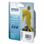 Картридж струйный Epson C13 T048B 4010, 3 цвета, 3шт/уп