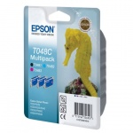 Картридж струйный Epson C13 T048C 4010, 3 цвета, 3шт/уп