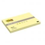 Блок для записей с клейким краем Post-It Basic канареечный желтый, пастельный, 76x127мм, 100 листов, 655R-BY