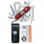 Мультитул Victorinox Expedition Kit 1.8741.AVT, нож на 36 функций, красный, нож/ фонарь/ компас/ чехол