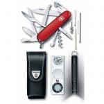 Мультитул Victorinox Traveller Set 1.8726, нож на 18 функций, красный, нож/ фонарь/ компас/ чехол