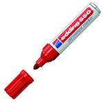 Маркер перманентный Edding 550 красный, 3-4мм, круглый наконечник, универсальный, заправляемый