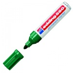 Маркер перманентный Edding 550 зеленый, 3-4мм, круглый наконечник, универсальный, заправляемый