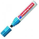 Маркер перманентный Edding 800, 4-12мм, скошенный наконечник, универсальный, заправляемый, голубой