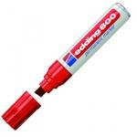 Маркер перманентный Edding 800, 4-12мм, скошенный наконечник, универсальный, заправляемый, красный