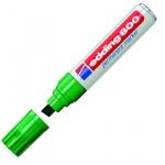 Маркер перманентный Edding 800, 4-12мм, скошенный наконечник, универсальный, заправляемый, зеленый
