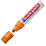 Маркер перманентный Edding 800, 4-12мм, скошенный наконечник, универсальный, заправляемый, оранжевый