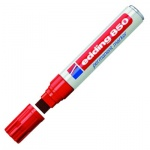 Маркер перманентный Edding 850, клиновидный наконечник, универсальный, заправляемый, красный