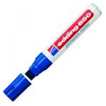 Маркер перманентный Edding 850 синий, 5-16мм, клиновидный наконечник, универсальный, заправляемый