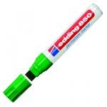 Маркер перманентный Edding 850, клиновидный наконечник, универсальный, заправляемый, зеленый