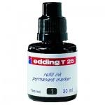 Чернила для маркеров перманентные Edding T25 черный, 30мл