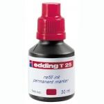 Чернила для маркеров перманентные Edding T25 красный, 30мл