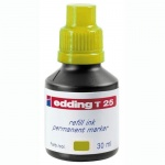 Чернила для маркеров перманентные Edding T25 желтый, 30мл