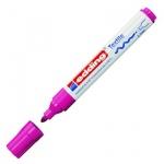 Маркер по ткани Edding 4500, 2-3мм, круглый наконечник, декоративный, неоновый фиолетовый