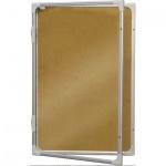 Доска-витрина 2x3 GK 296, коричневая, пробковая, алюминиевая рама, интерьерная, 90х60см