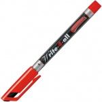 Маркер перманентный Stabilo Write-4-All, 0.4мм, круглый наконечник, красный