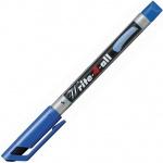 Маркер перманентный Stabilo Write-4-All, 0.4мм, круглый наконечник, синий