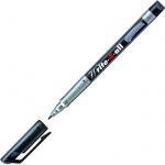 Маркер перманентный Stabilo Write-4-All черный, 0.7мм, круглый наконечник