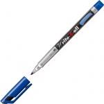 Маркер перманентный Stabilo Write-4-All, 1 мм, круглый наконечник, синий