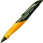 Ручка шариковая автоматическая Stabilo EASYball синяя, 0.5мм, оранжевый корпус