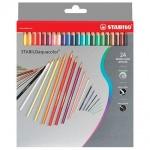 Набор акварельных карандашей Stabilo Aquacolor, 24