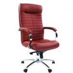 Кресло руководителя Chairman 480 иск. кожа, коричневая, крестовина хром