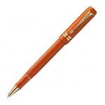 Ручка-роллер Parker Duofold T74 F, синяя, красный корпус, красный корпус