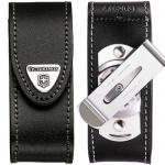 Чехол Victorinox 4.0520.31, для ножа 91мм 2-4 уровней, черный, кожаный