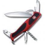 Нож перочинный 130мм Victorinox RangerGrip 61 0.9553.MC, 11 функций, 2 уровня, красно-черный
