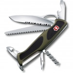 Нож перочинный 130мм Victorinox RangerGrip 179 0.9563.MWC4, 12 функций, 3 уровня, красно-черный