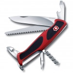 Нож Victorinox RangerGrip 55 130мм, 12 функций, красно-чёрный