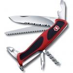 Нож перочинный 130мм Victorinox RangerGrip 155 0.9563.WC, 12 функций, 3 уровня, красно-черный