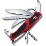 Нож Victorinox RangerGrip 57 Hunter 130мм, 13 функций, красно-чёрный