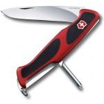 Нож перочинный 130мм Victorinox RangerGrip 53 0.9623.C, 5 функций, 1 уровень, красно-черный