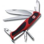 Нож перочинный 130мм Victorinox RangerGrip 56 0.9663.C, 12 функций, 3 уровня, красно-черный