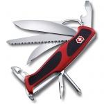 Нож перочинный 130мм Victorinox RangerGrip 58 0.9683.MC, 13 функций, 4 уровня, красно-черный