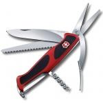 Нож перочинный 130мм Victorinox RangerGrip 71 0.9713.C, 7 функций, 3 уровня, красно-черный