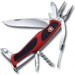 Нож перочинный 130мм Victorinox RangerGrip 74 0.9723.C, 14 функций, 3 уровня, красно-черный
